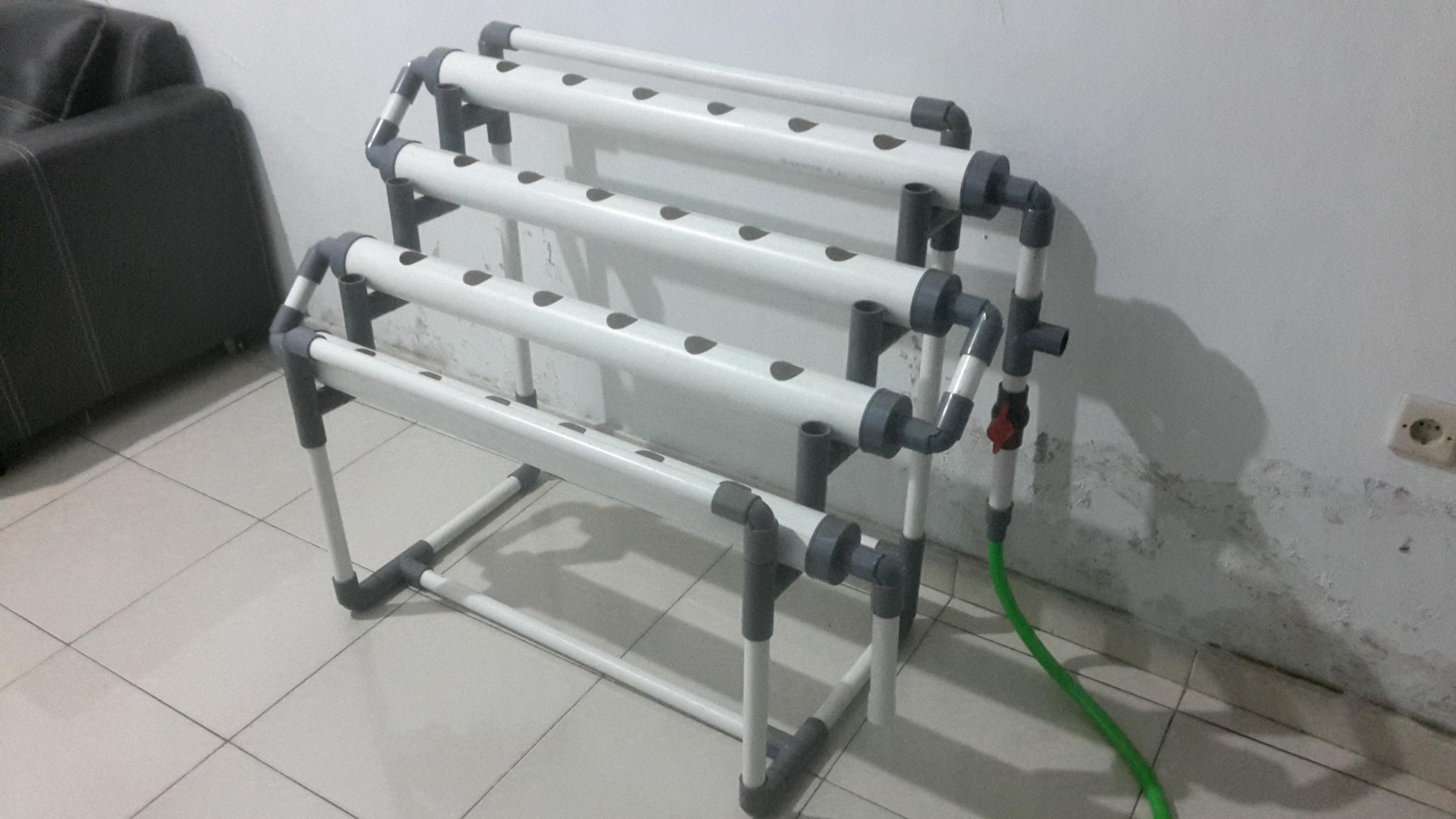 Cara membuat hidroponik sistem DFT/NFT dengan uang 300
